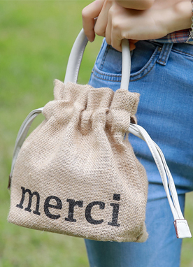 MERCI Drawstring Mini Bag, Styleonme
