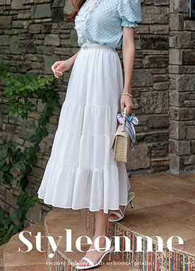 Long Tiered Skirt, Styleonme