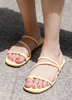 6Colors Toe Ring Flat Sandals, Styleonme