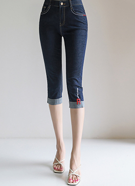 Initial R Slim Fit Capris Jeans, Styleonme