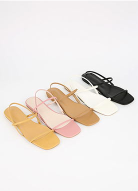 Thin Strap Flat Sandals, Styleonme