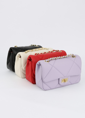 4Colors Quilted Chain Bag , Styleonme
