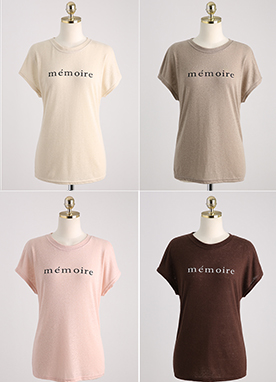Memoire Linen-Blend Daily T-Shirt, Styleonme