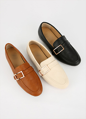 Gold Buckle Loafers, Styleonme