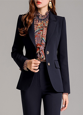 Gold Button Classic Collection Tailored Jacket, Styleonme