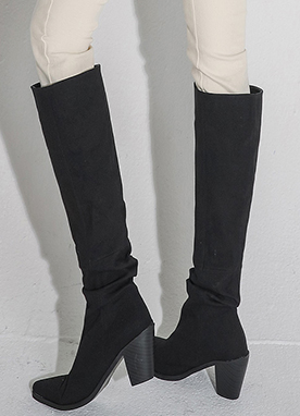 Linen Slouch Boots, Styleonme
