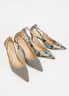 Patterned Pointed Heels, Styleonme