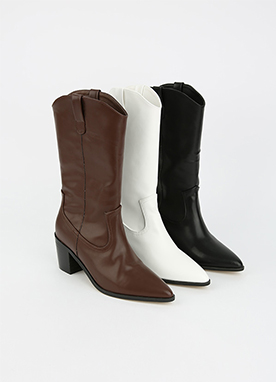 Simple Western Style Boots, Styleonme