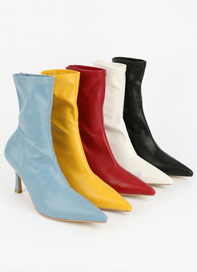 Vivid Color Ankle Boots, Styleonme