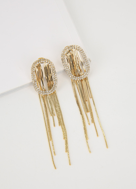 Gold Tassel Earrings, Styleonme