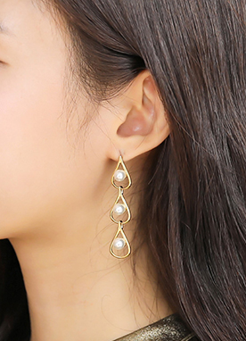 Teardrop Pearl Earrings, Styleonme