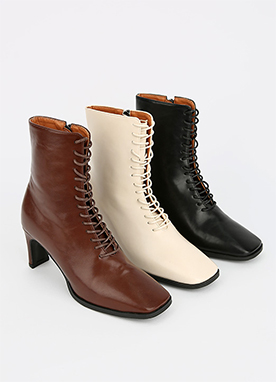 Lace-Up Long Walking Boots, Styleonme