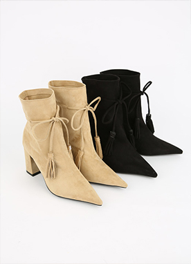 Suede Tassel Boots, Styleonme