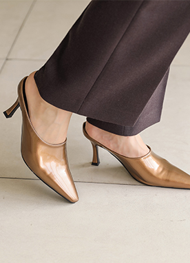 Simple Daily Mule Heels, Styleonme