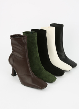 5Colors Squared Toe Ankle Boots, Styleonme