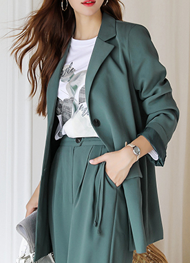 Two Button Oversized Tailored Jacket, Styleonme