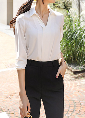 Daily Office Look Collared Blouse, Styleonme