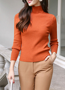 [1+1] Soft Mock Neck Jumper, Styleonme