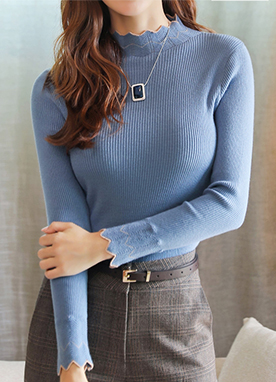 Basic Ribbed Wave Jumper, Styleonme