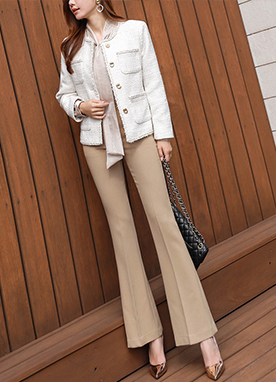 Essential Boot-cut Trousers, Styleonme