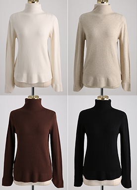 Supersoft Daily Turtleneck Knit Top, Styleonme