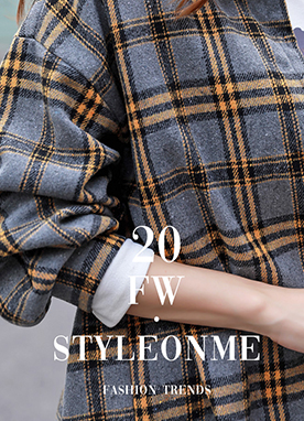 Balloon Sleeve Oversized Check Flannel Shirt, Styleonme