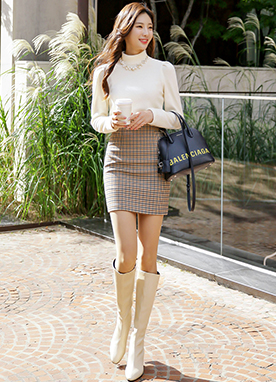 Mini Tartan Check Skirt, Styleonme