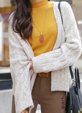 Basic Loose Fit Cardigan, Styleonme