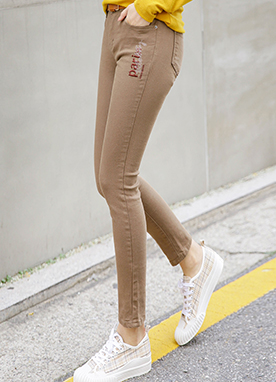 Comfy and Slim Cotton Skinny Pants, Styleonme