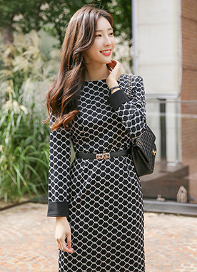 Modern Pattern Tube Dress, Styleonme