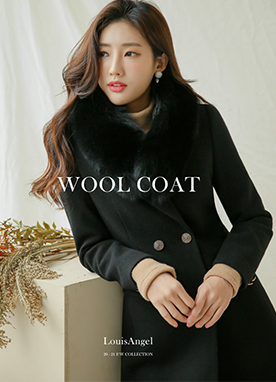 Double-breasted Half Coat, Styleonme