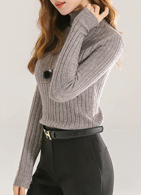 Jasmin Ribbed Roll Neck Jumper, Styleonme