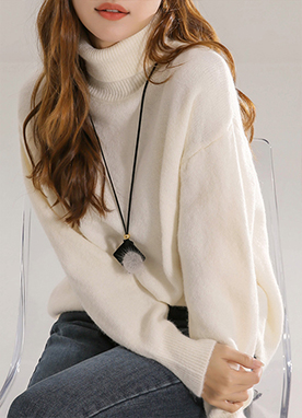 Soft Semi Loose fit Roll Neck Jumper in Pastel Colors, Styleonme