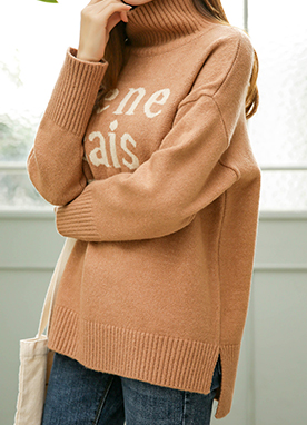 Je ne sais quoi High Neck Jumper, Styleonme