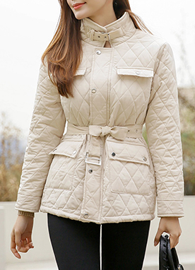 4 Pocket Quilted Jacket, Styleonme