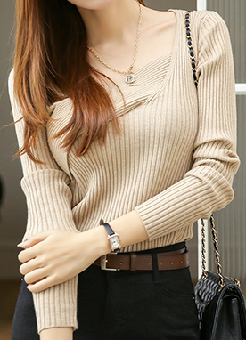 Deep Twist Knit Jumper, Styleonme