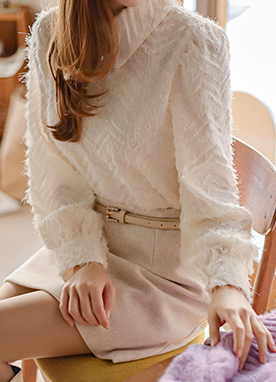 Delicate Lemon Powder Collared Blouse, Styleonme