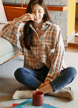 Tartan Check Flannel in Pastel Colors, Styleonme