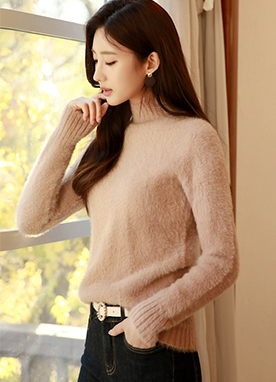 True Fuzzy Turtleneck Jumper, Styleonme