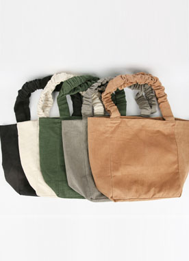 Shirring Strap Canvas Bag, Styleonme