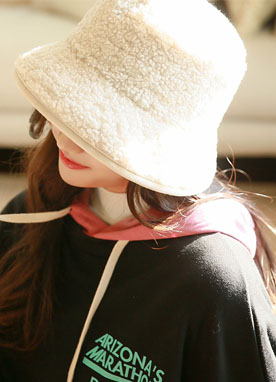 Shearling Bucket Hat, Styleonme