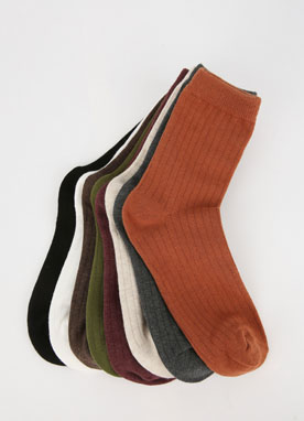 Soft Winter Ribbed Socks, Styleonme