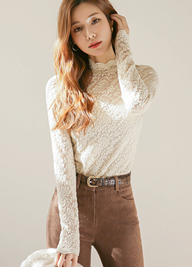 Rose Lace Close fit Top, Styleonme