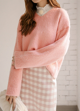 Pastel Marshmallow 10Wool mix Jumper, Styleonme