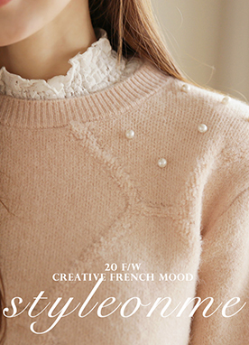 Lovely Pearl Beaded Jumper, Styleonme