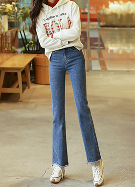 High Rise Semi Wide fit Jeans, Styleonme