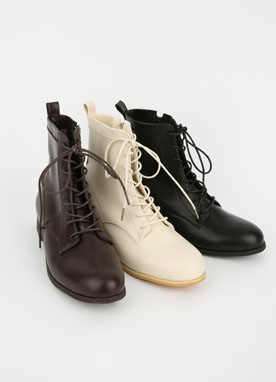 Lace-Up Walker Boots, Styleonme