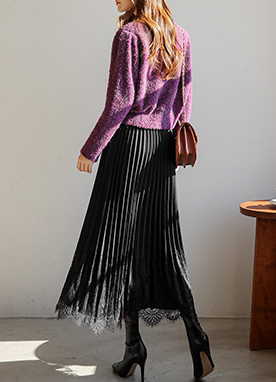 Add Grace Lace Pleated Skirt, Styleonme