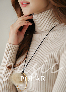 Winter Roll neck Ribbed Jumper, Styleonme