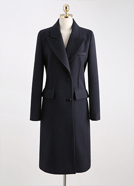 Cozy Slimline Tailored Coat, Styleonme